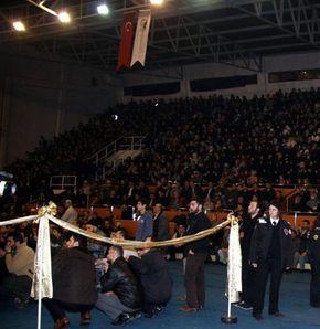 Zonguldak'ta Cübbeli izdihamı