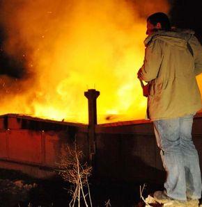 Uşak'tan yangın