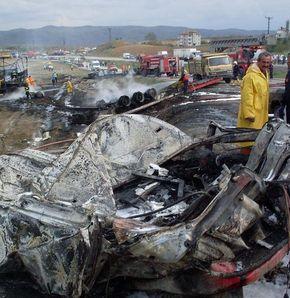 Kırıkkale yolunda büyük kaza