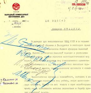 İşte Stalin'in katliam belgesi