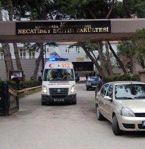 Fakülte kampusünde intihar girişimi
