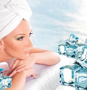 Yaglı cildin ilacı buz masajı