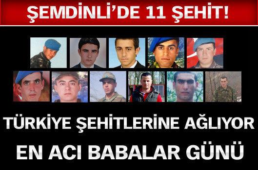 Türkiye şehitlerine ağlıyor - 11 asker aynı gün Şemdinli'de şehit oldu...