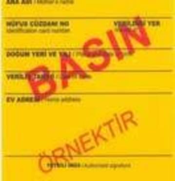 Kaç kişiye yeni sarı basın kartı verildi?