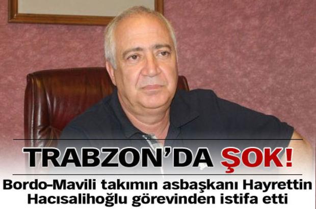 Trabzon'da şok istifa!