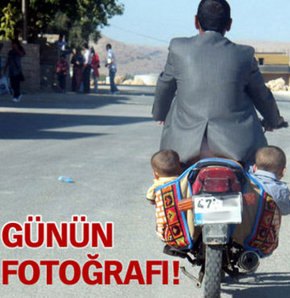 Motosiklet heybesinde yolculuk!