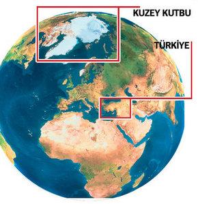 Kuzey Kutbu, 3 yıl içinde Anadolu kadar küçüldü