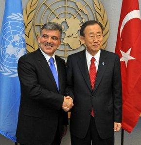 Gül, BM Genel Sekreteri Ban Ki-mun ile görüştü
