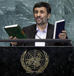 Ahmedinejad kürsüye çıktı BM boşaldı