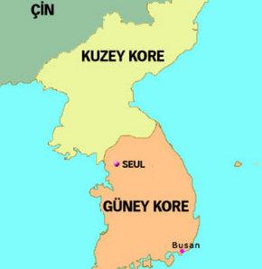 Kuzey Kore�den G�ney Kore�ye ate� a��ld�
