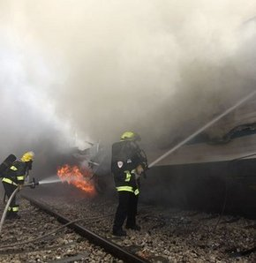 Trendeki yangında 100 kişi yaralandı