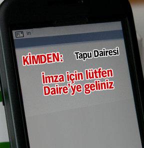 Tapuda SMS dönemi!