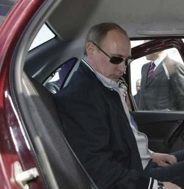 Putin'e zor anlar yaşatan otomobil! (GALERİ)