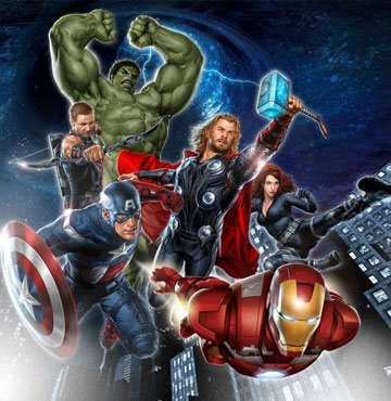'The Avengers'tan ilk fotoğraf