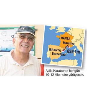 Türk mühendis spor için 636 kilometre yürüyecek