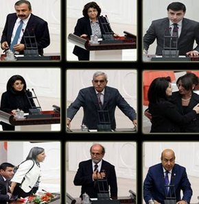 BDP'li vekiller yemin etti! VİDEO-GALERİ