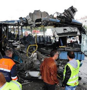 Halk otobüsü kazası: 10 yaralı!