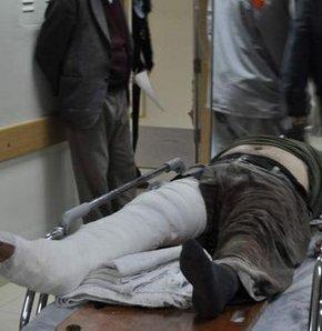 Üzerine dana düşen vatandaşın ayağı kırıldı