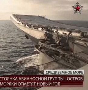Rus uçak gemisi Akdeniz'de tatbikata başladı