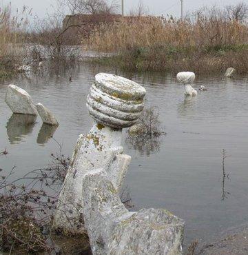 Kalcık'ta tarih sular altında