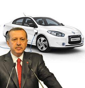 Renault Mais Genel Müdürü İbrahim Aybar, elektrikli Fluence, Başbakan Recep Tayyip Erdoğan