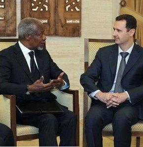 Suriye Devlet Başkanı Beşşar Esad, BM-Arap Birliği ortak özel temsilcisi Kofi Annan