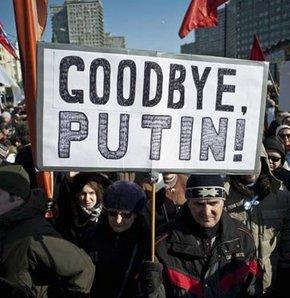 Putin karşıtları yine sokakta