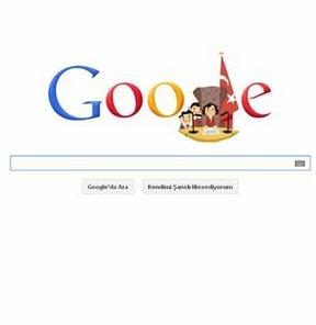 23 Nisan Ulusal Egemenlik ve Çocuk Bayramı, Google 23 Nisan logosu, 23 Nisan Doodle, 23 Nisan kutlaması, 23 Nisan