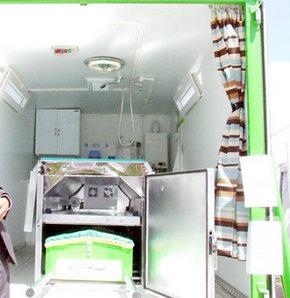 Yozgat Tarım ve Hayvancılık Fuarı'nda tanıtılan klimalı, hayat sensörlü tabut