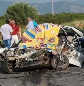 aşırı hız can aldı, aydın, didim, trafik kazası
