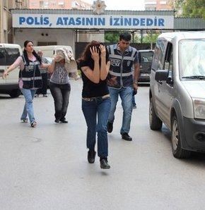 20 eskort kız tutuklandı