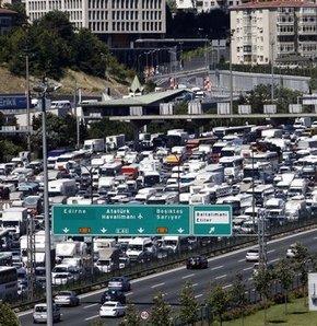 İstanbul'da trafik çilesi başladı