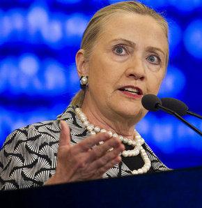 ABD Dışişleri Bakanı Clinton