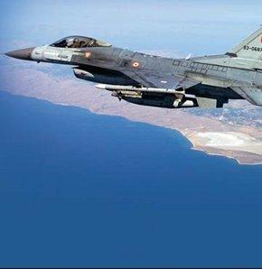İncirlik ve Batman'dan acil önleme kalkışı (scramble) yapan F-16 savaşan şahin