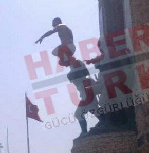 Taksim Meydanı'ndaki çıplak eylemci linç edilecekti