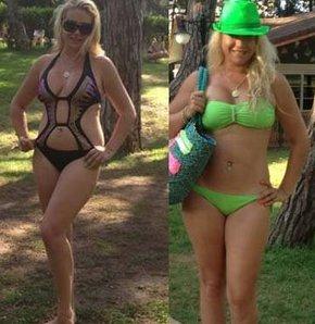 Yeliz Yeşilmen'den bikini şov
