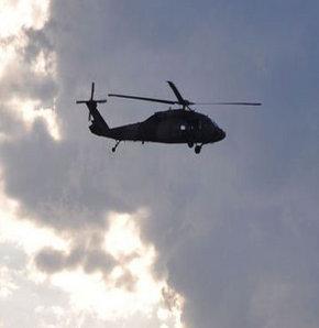 Yüksekova'da helikopter düştü, Dağlıca'da askeri helikopter düştü