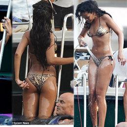Rihanna tatile doymuyor...
