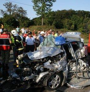 Terme'de feci trafik kaza: 3 ölü, 3 yaralı