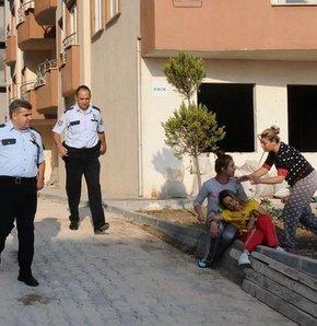 Bursa'da cinayet sonrası zanlıyı üzeri kanlı halde elindeki silahla gören kadın  şoka girerek bayıldı...