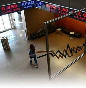 Yunanistan'da krizle birlikte borsa şirketlerinin piyasa değeri de dibe vurdu