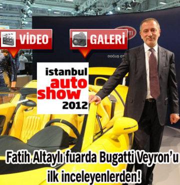Fuarın en hızlısı Bugatti Veyron!