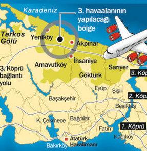 İstanbul'a inşa edilecek 3'üncü havalimanı, 6.4 milyar dolara mal olacak. 6 pist inşa edilecek.