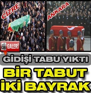 KADEP Lideri Şerafettin Elçi'nin tabutuna Ankara'da Türk bayrağı, Cizre'de Kürt bayrağı örtüldü...