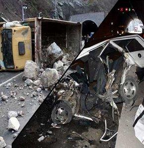 Karabük'te, oğlunun kullandığı taş yüklü kamyona otomobiliyle çarpan baba hayatını kaybetti