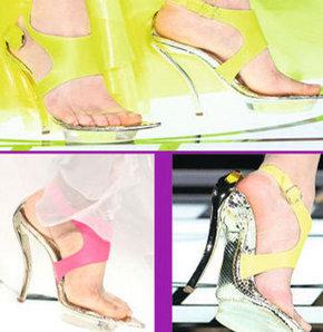 Şeffaf bantlı ayakkabılar