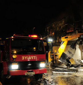 Gaziantep'te bulgur fabrikasında yangın