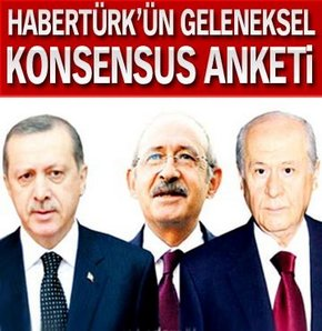 Habertürk'ün geleneksel Konsensus anketi