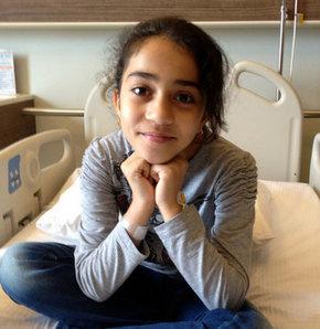 Irak'ta üç böbreği olduğu anlaşılınca ailesi tarafından İstanbul'a getirilen 9 yaşındaki Mina Al Mayyah, yapılan ameliyatla sağlığına kavuştu.