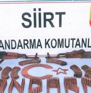 Pervari kırsalında araziye gizlenmiş 2 adet silah ve mühimmat ele geçirildi